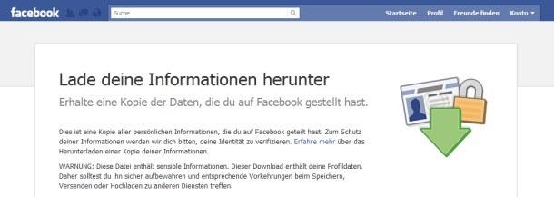 Daten Facebook Web