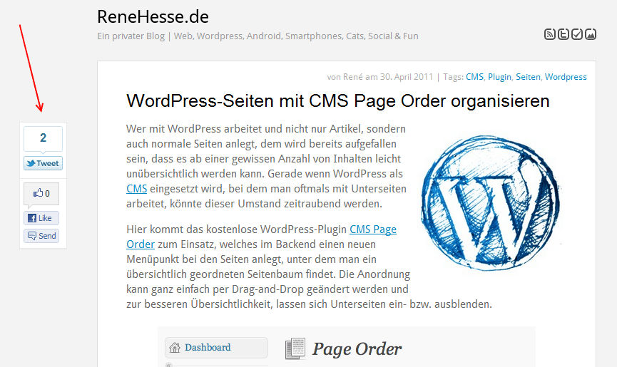 Plugin Sharing Social Wordpress