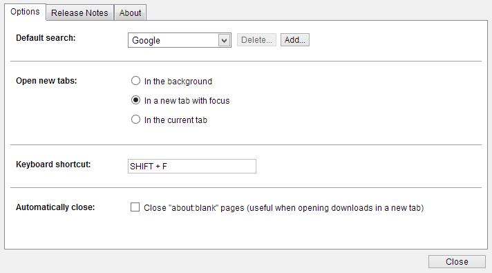 Chrome Suche Tastenkürzel Tool