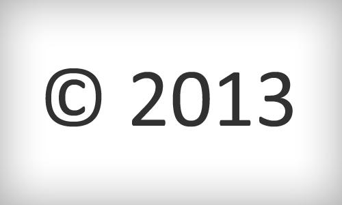 Copyright PHP Wordpress