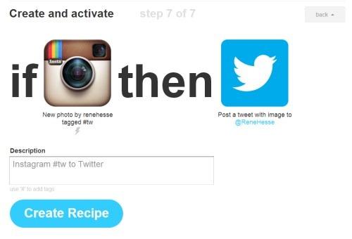 Fotos IFTTT Instagram Social Twitter