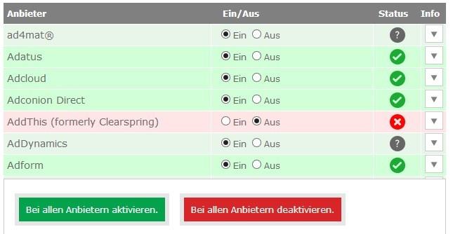 Anzeigen Datenschutz Web Werbung