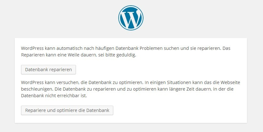 Datenbank Wordpress