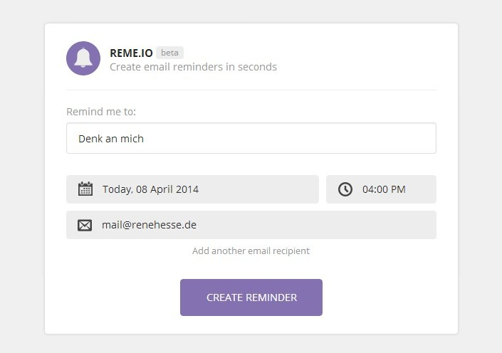 E-Mail Mail Reminder Tool Web