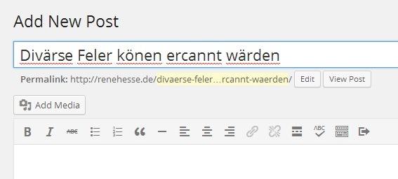 Plugin Rechtschreibprüfung Wordpress