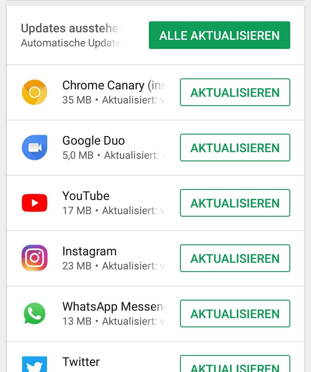 Android apps Fail