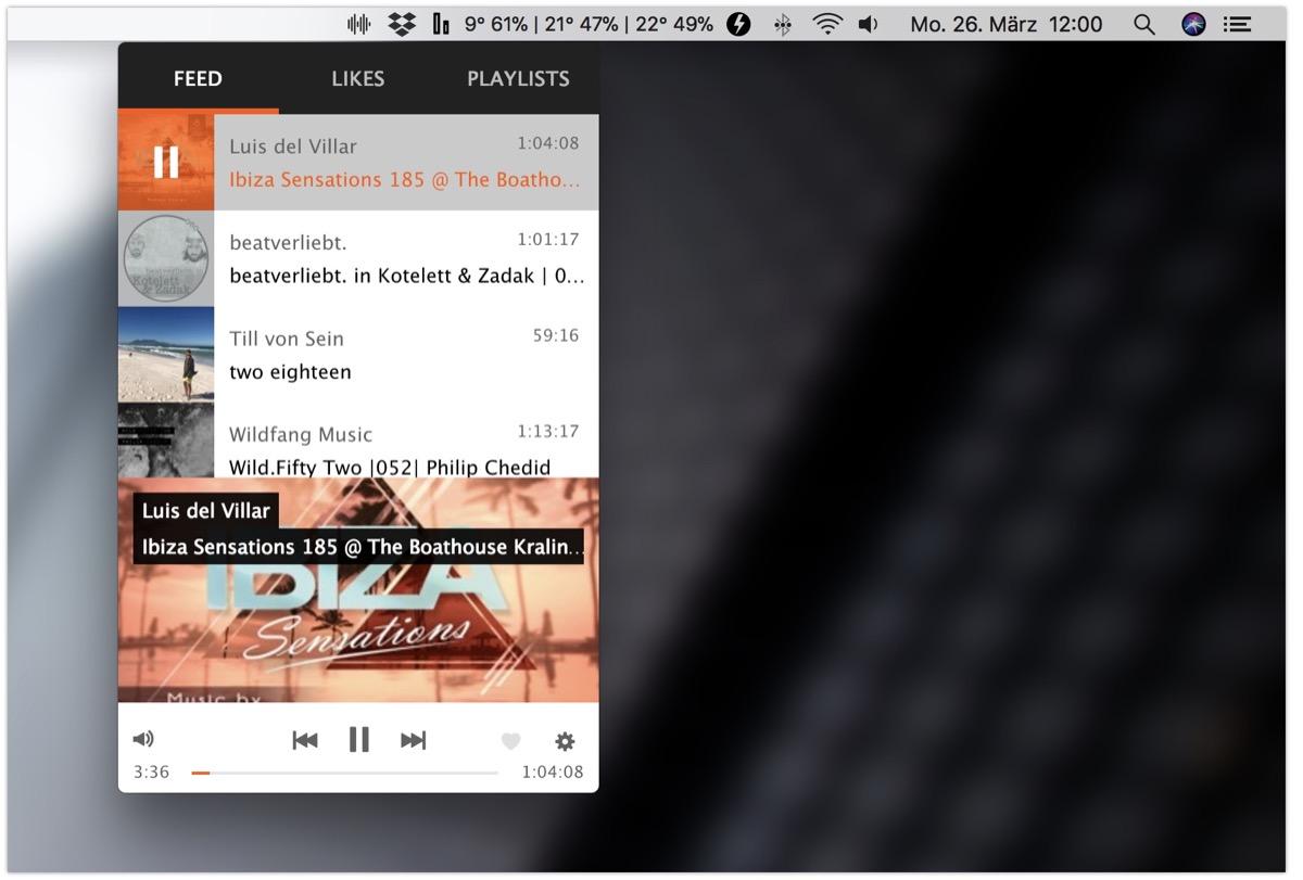 Apple Chrome mac macos Musik soundcloud