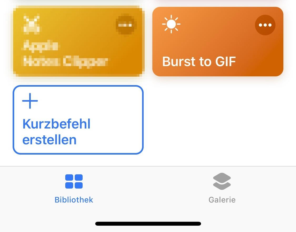 Apple GIF iOS Kurzbefehl