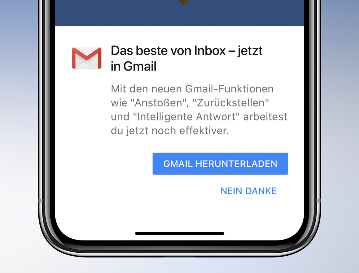Fail GMail Google inbox